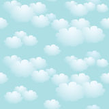 Blue sky seamless background. With clouds Stock Photography