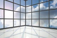 Blue sky seen through window Stock Photos