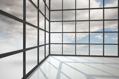 Blue sky seen through window Stock Photography