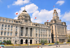 Blue sky in Shanghai Bund, China Royalty Free Stock Photos
