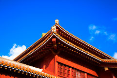 Blue sky and Shuri Castle, Okinawa Royalty Free Stock Photography
