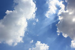 Blue sky. Skies during the afternoon of Sunday, December 7, 2557 in Bangkok, Thailand Royalty Free Stock Images