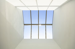 Blue sky and skylight window Stock Image