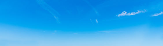 Blue sky and small clouds Stock Images