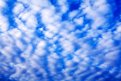 Blue sky with small white clouds Stock Images