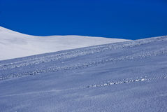 Blue sky and snow Royalty Free Stock Photos