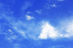 Blue sky and Soft clouds Royalty Free Stock Photo