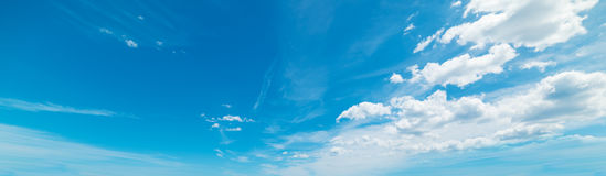 Blue sky with soft clouds Stock Photos