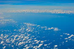 Blue sky. Soft white clouds in the blue sky Royalty Free Stock Photos