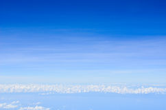 Blue sky. Soft white clouds in the blue sky Royalty Free Stock Images
