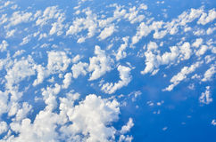 Blue sky. Soft white clouds in the blue sky royalty free stock image
