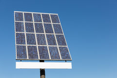 Blue sky and solar panel with copy space for text Royalty Free Stock Image