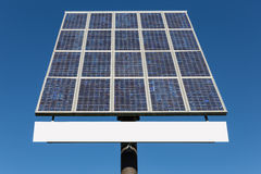 Blue sky and solar panel with copy space for text Stock Image