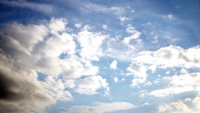 Blue sky with some clouds. background. Blue sky with some clouds. background royalty free stock photography