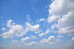 Blue sky and some clouds. In sunny day Royalty Free Stock Photography