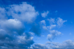 Blue sky. With some strong clouds Stock Image