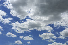 Blue sky with some white clouds.  Stock Images