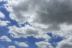 Blue sky with some white clouds.  Royalty Free Stock Photo