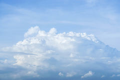 Blue sky with some white clouds. In windy day Royalty Free Stock Image