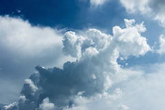 Blue sky with some white puffy clouds. Blue sky with some white puffy clouds Stock Photos