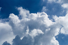Blue sky with some white puffy clouds. Blue sky with some white puffy clouds Stock Photo