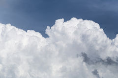 Blue sky with some white puffy clouds. Stock Photography