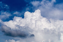 Blue sky with some white puffy clouds. Blue sky with some white puffy clouds Royalty Free Stock Photos