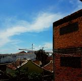 Blue sky in songkhla. Blue in songkhla old town thailand Royalty Free Stock Photo