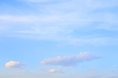 Blue sky with spindrift clouds. Stock Photography