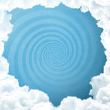 Blue sky with spiral Royalty Free Stock Images
