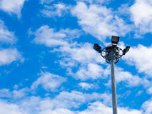 Blue sky with spot light Royalty Free Stock Photo