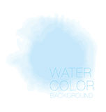 Blue sky spot. watercolour background, Royalty Free Stock Photography