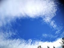 Blue sky in spring Royalty Free Stock Images
