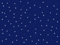 Blue sky and stars background. Sparky stars background with blue sky at night Royalty Free Stock Photo