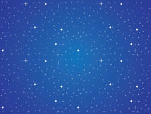 Blue sky with stars background Royalty Free Stock Photography