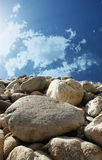 Blue sky and stone Royalty Free Stock Photography