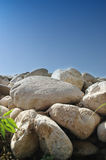 Blue sky and stone Royalty Free Stock Images