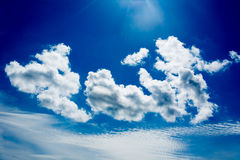 Blue sky in summer. Background stock image