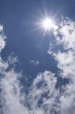 The blue sky and sun Royalty Free Stock Images