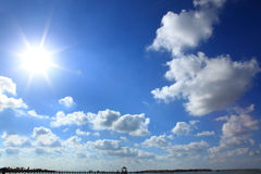 Blue sky sun Royalty Free Stock Photos
