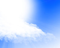 Blue sky with sun Stock Photos