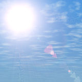 Blue sky and sun background Royalty Free Stock Photos