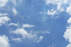 Blue sky with sun behind clouds.  Stock Images