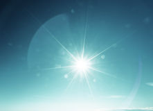 Blue sky and sun Royalty Free Stock Images