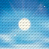 Blue Sky Sun Checkered Background Royalty Free Stock Images