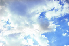 Blue sky with sun. And cloud Royalty Free Stock Photography