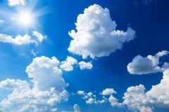Blue sky and sun Stock Image