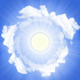 Blue sky and sun light. Royalty Free Stock Photography