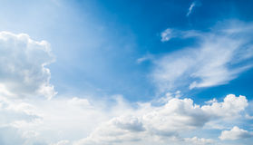 Blue sky  with sun light Royalty Free Stock Images