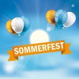 Blue Sky Sun Sommerfest Stock Photos